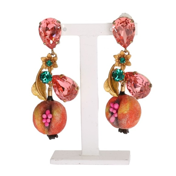 clipon earrings floral on offers gabbana accessories and crystal new women crystalembellished dolce embellished clip styles womens multicoloured s p jewellery